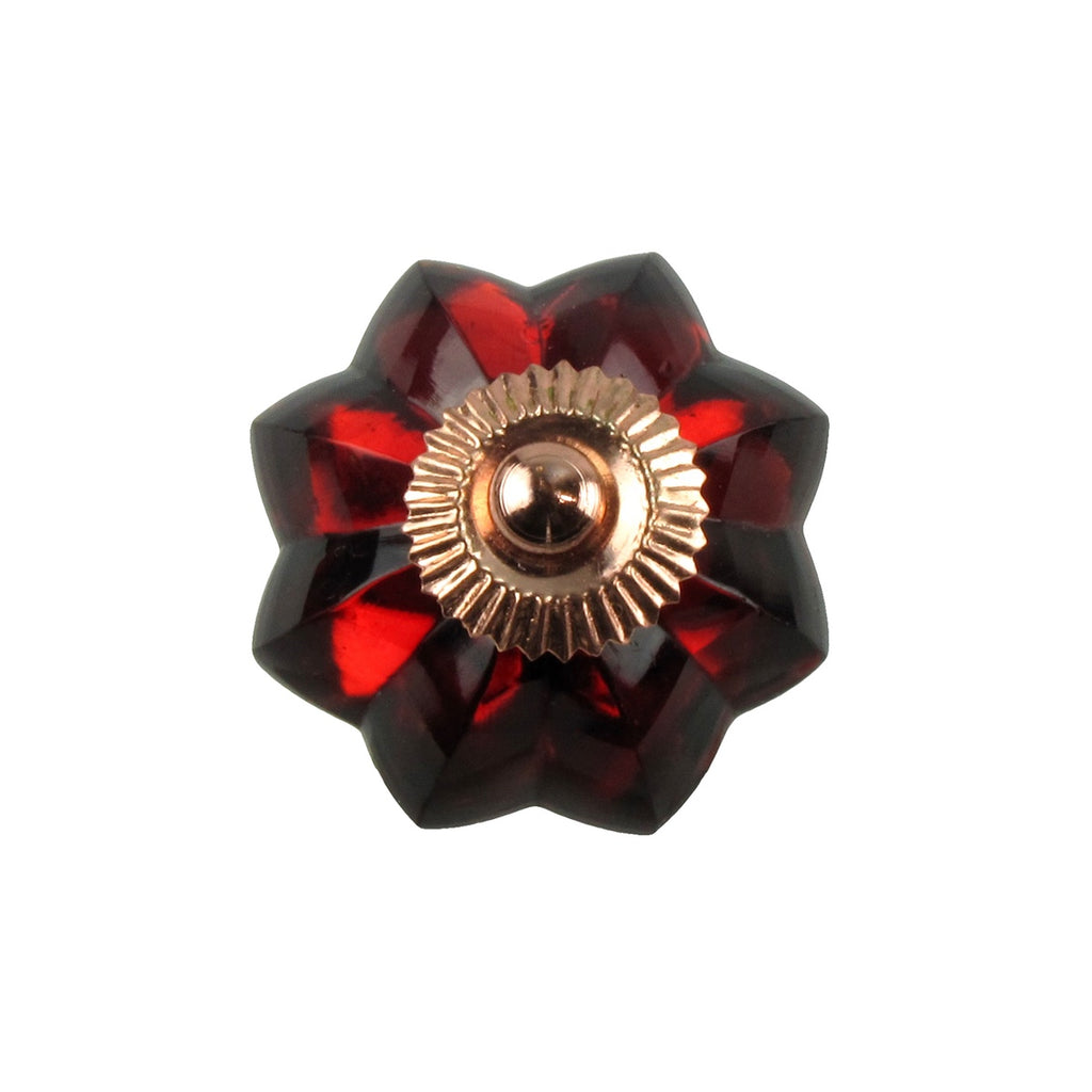 New Ruby Red Glass Pull Knob