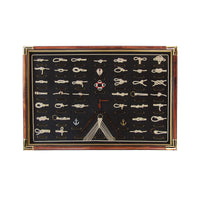 3D Display Sailor 41 Rope Knot & Rigging Board Wall Decor