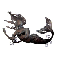 Giant Metal Mermaid Nautical Beach House/Coastal Home Decor