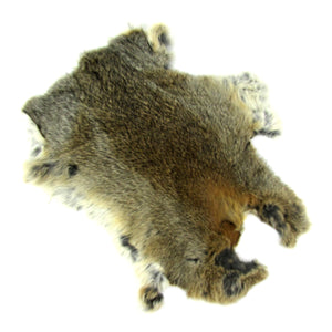 Authentic Large Genuine Rabbit Fur Skin Pelt Real Tanned Taxidermy Hide