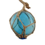 Nautical Fish Net Blue Glass Float Buoys
