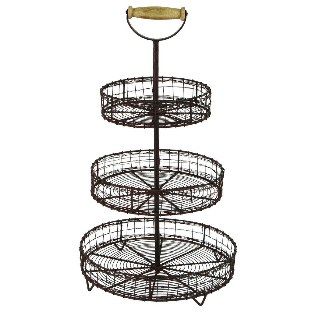 Antique Style Metal Wire  Rack Display Stand