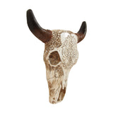 Southwestern Tooled Animal Skull and Horns Wall Art