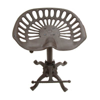 Cast Iron Metal Adjustable Tractor Seat Stool