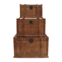 Vintage Style Travel Trunk Set