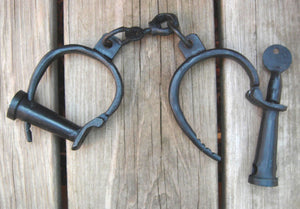 Antique Cast Iron Pirate Ship Handcuffs