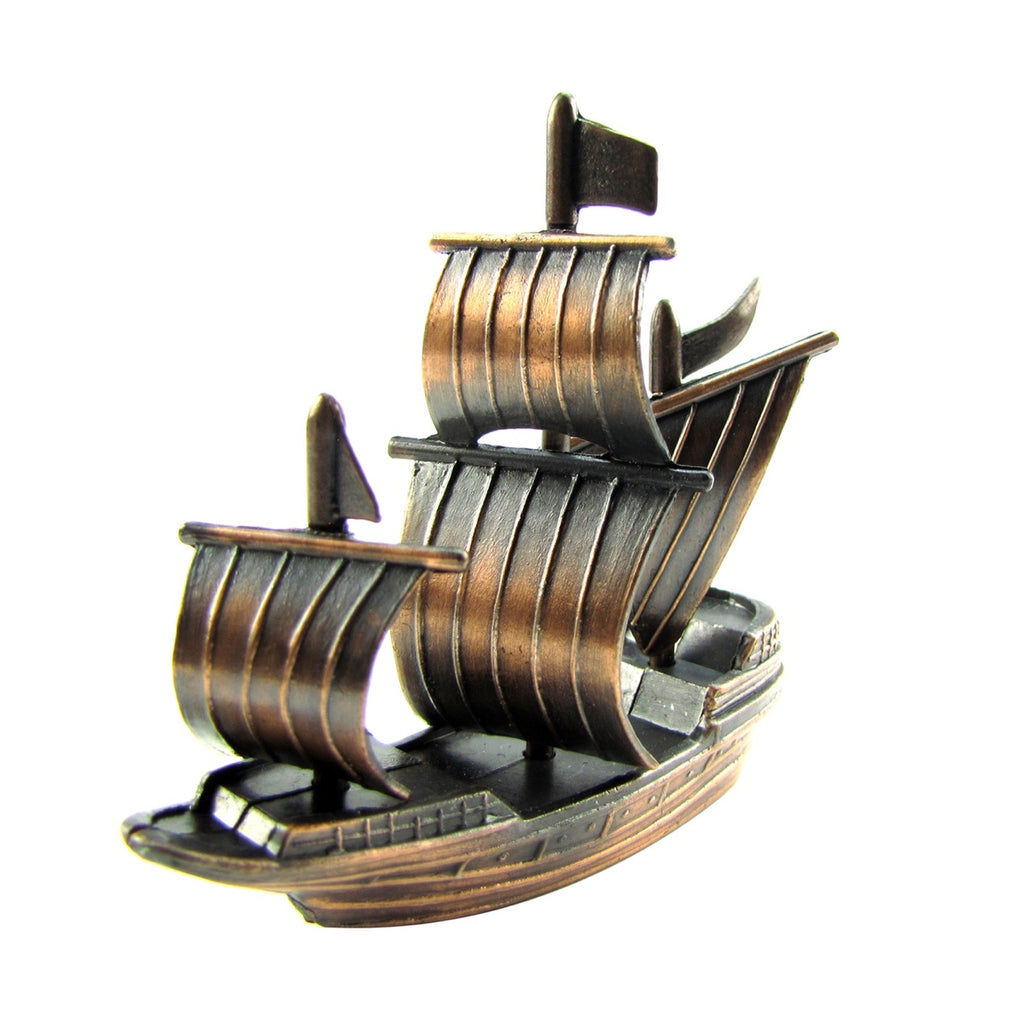 Bronze Metal Spanish Galleon Pirate Ship Pencil Sharpener
