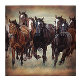 "Rustic Western 8 Wild Horses 70"" Shower Curtain"