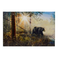 Black Bear LED Light Up Canvas Print