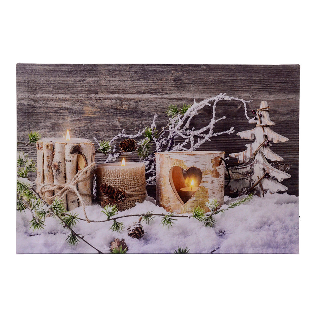 Christmas Lights Flicker Canvas Picture