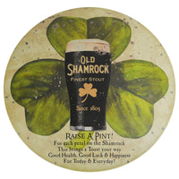 Round Stout Dark Beer Tin Irish Button Sign