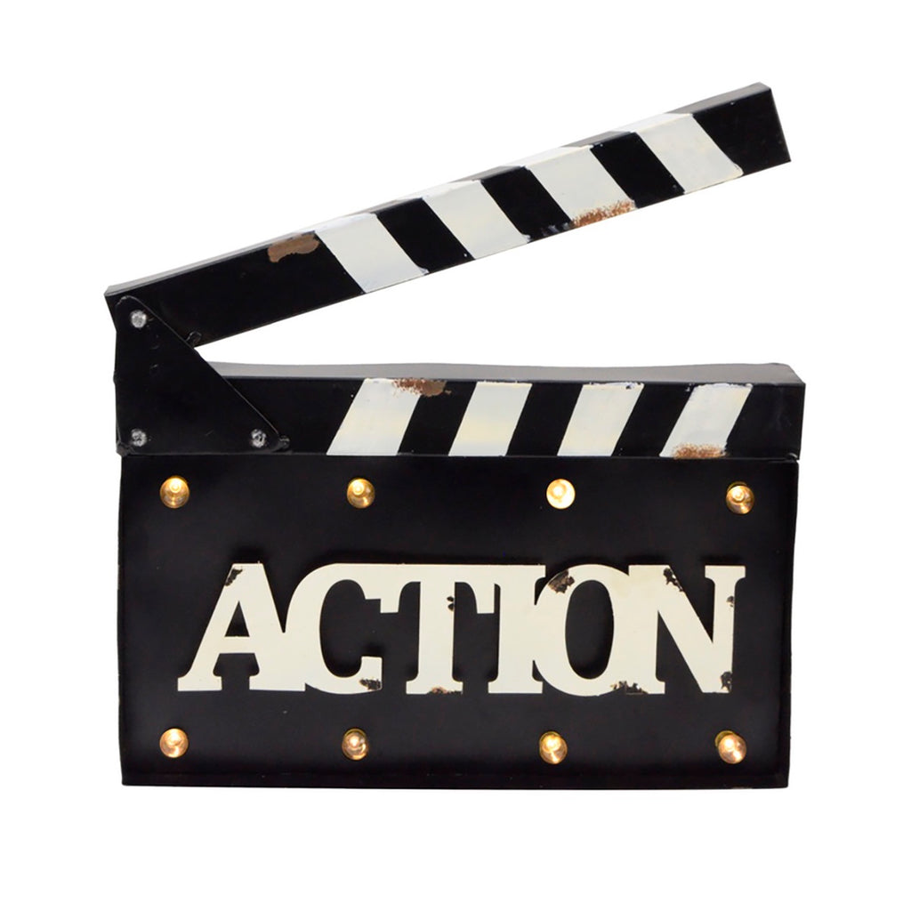 ACTION Light Up 3D Metal Sign