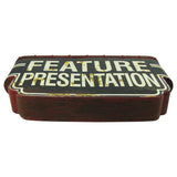 Vintage Movie Theatre Feature Presentation 3-D Metal Sign