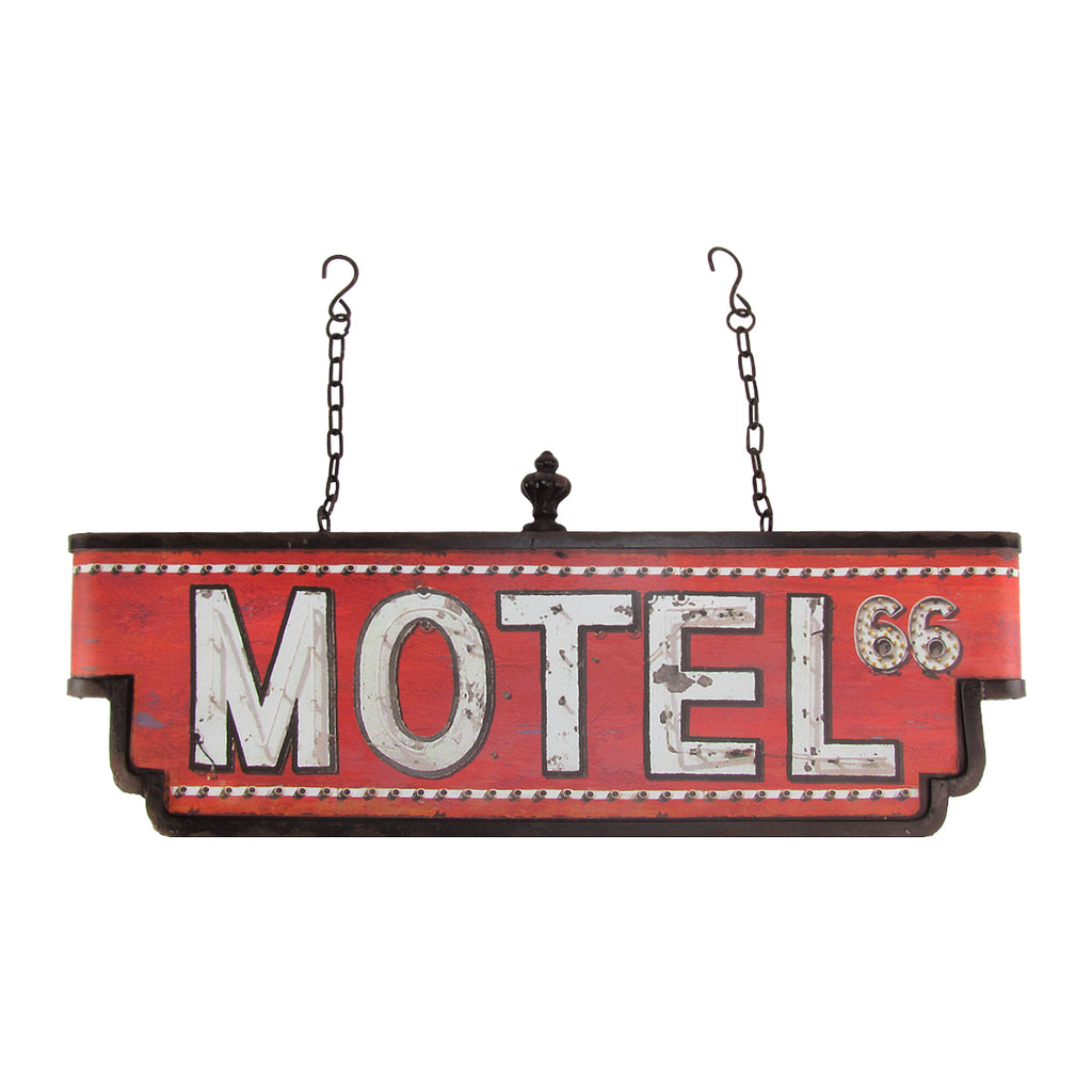 Hanging Metal 3D Large Motel Route 66 Sign Vintage Retro Home/Bar/Pub Wall Decor
