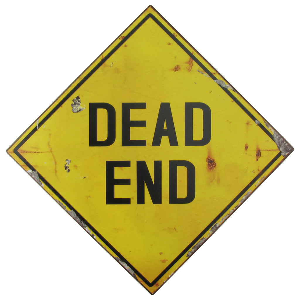 Metal Dead End Street Traffic Sign for Wall