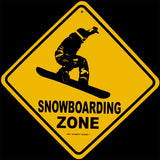 Metal Warning Snowboarding Xing Wall Sign