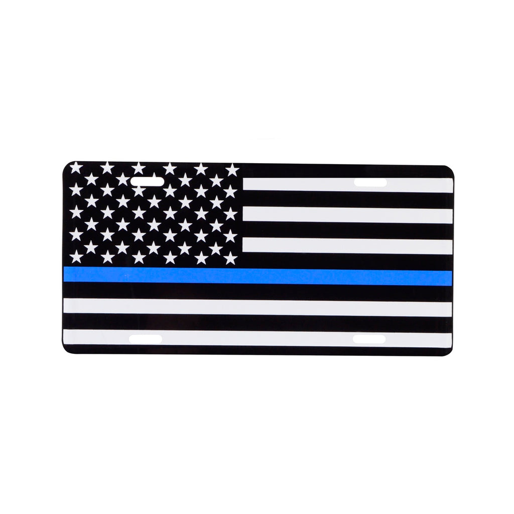 Blue Lives Matter Thin Line License Plate