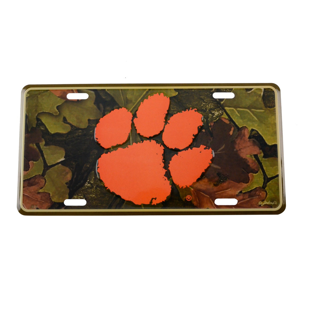 Fighting Tigers Tree Camo License Plate