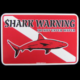 Funny SCUBA Diving Shark Warning Wall Sign