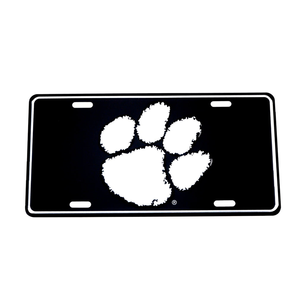 Fighting Tigers Black Mirrored License Plate