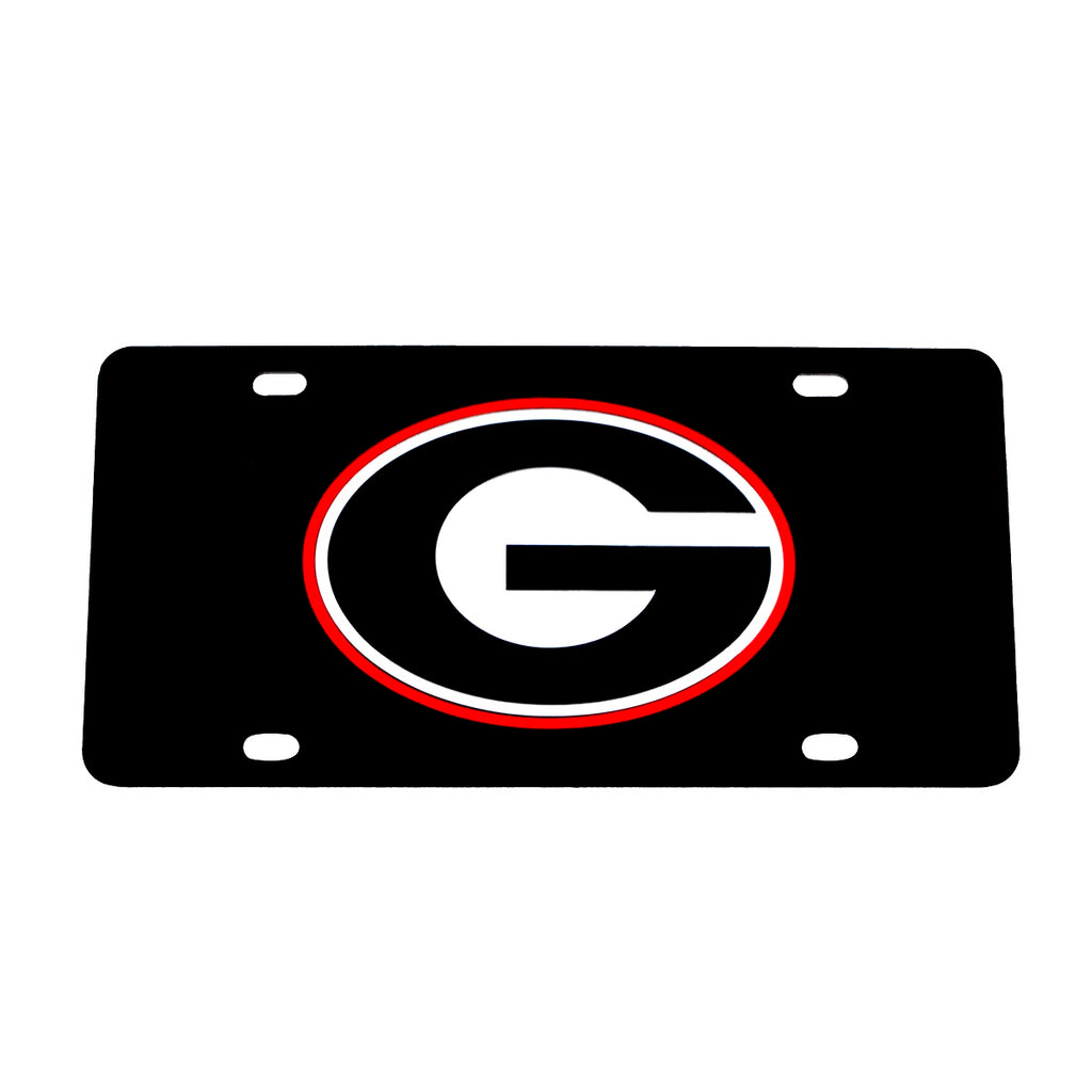 University of Georgia Black Mirrored License Plate