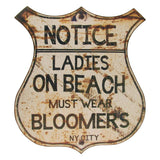 Vintage Style Women Must Wear Bloomers Beach Wall Sign