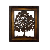 Set of 2 Framed Laser Cutting Metal Maple Trees
