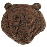 Cast Iron Grizzly Bear Head Lawn and Garden Stepping Stone