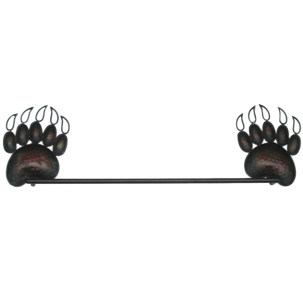 Rustic Grizzly Bear Towel Bar Hanger