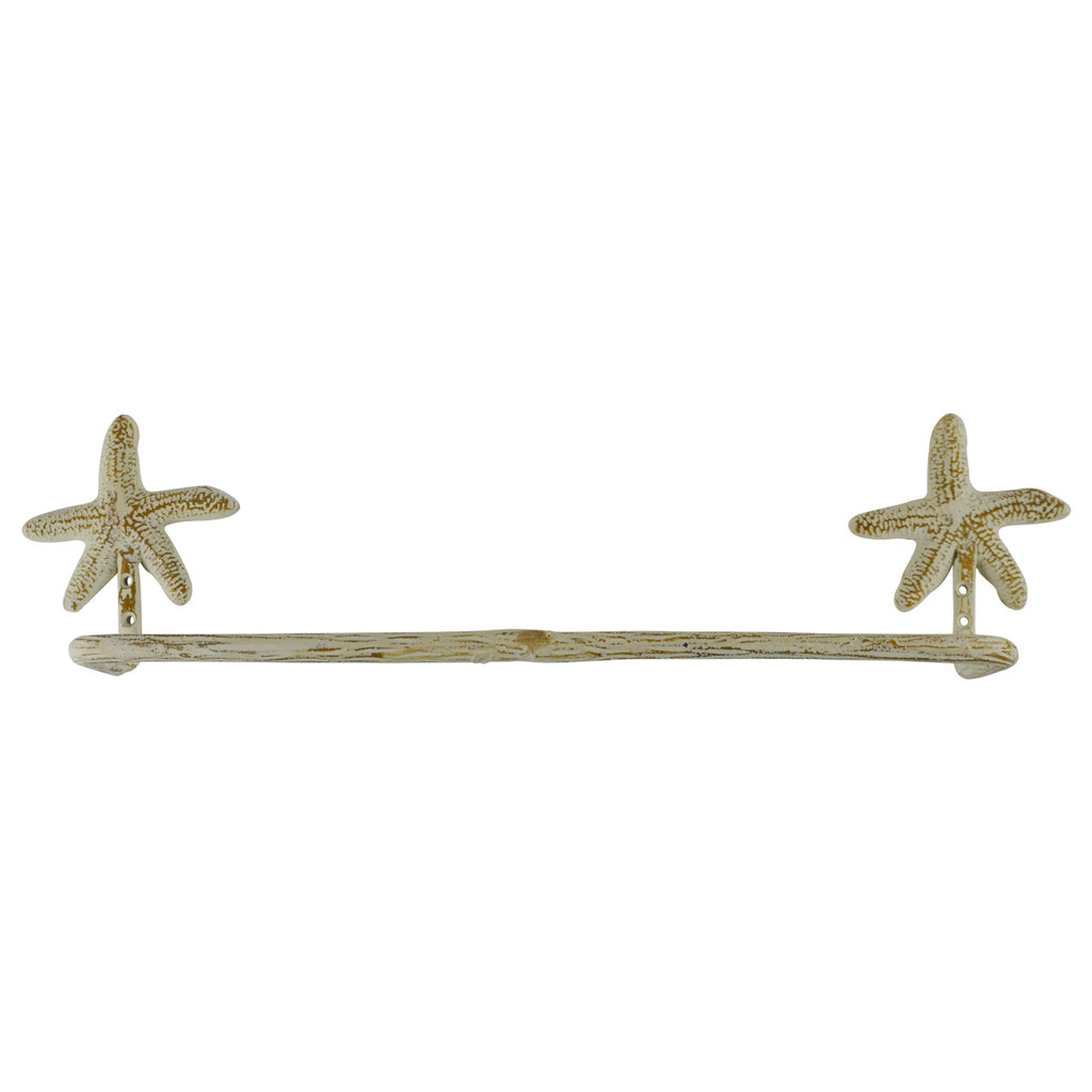 Wall Mount Starfish Bath Towel Bar Holder