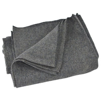 Large Gray Heavy Wool Army/Military Type Blanket
