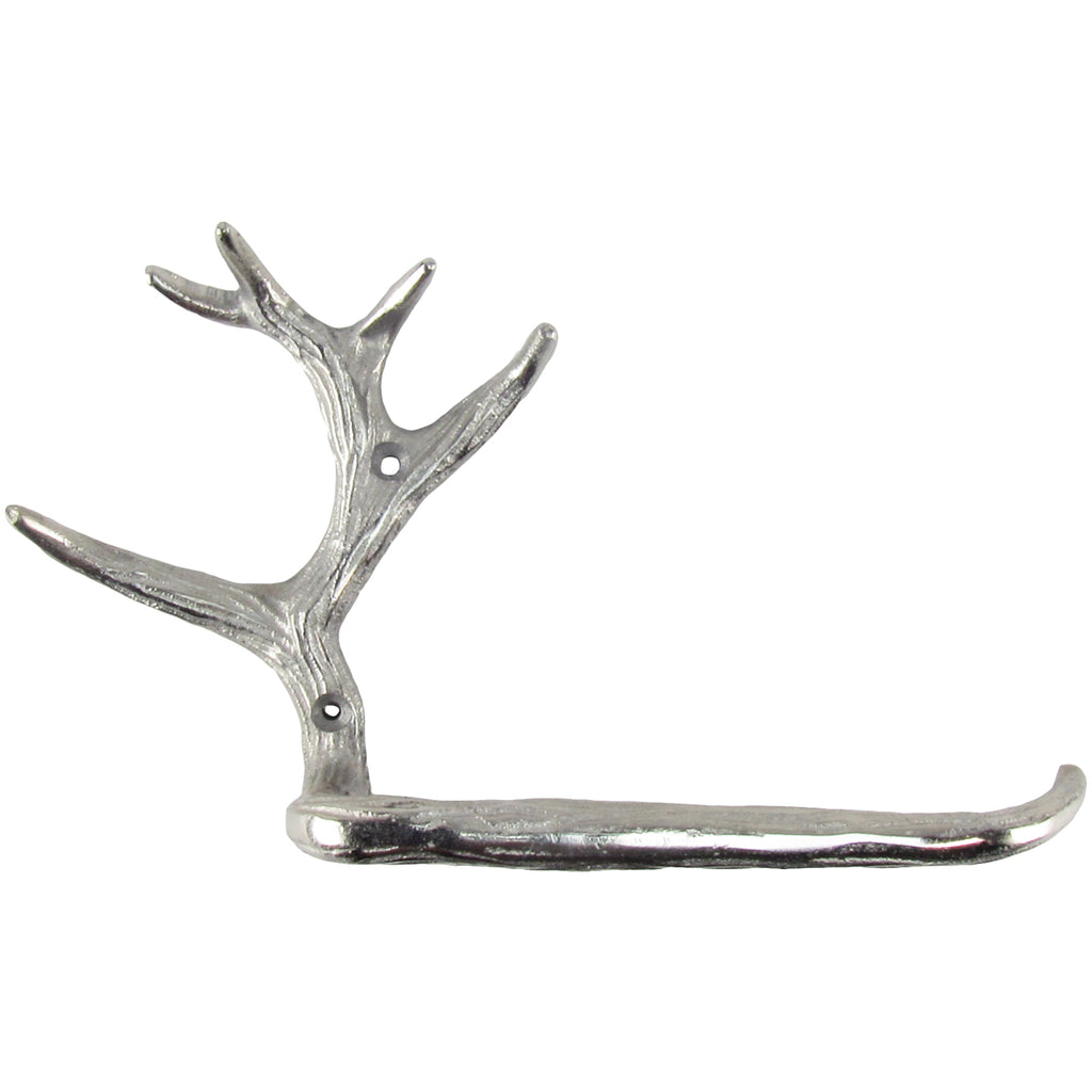 Metal Rustic Deer Antler Toilet Tissue Paper Roll Holder