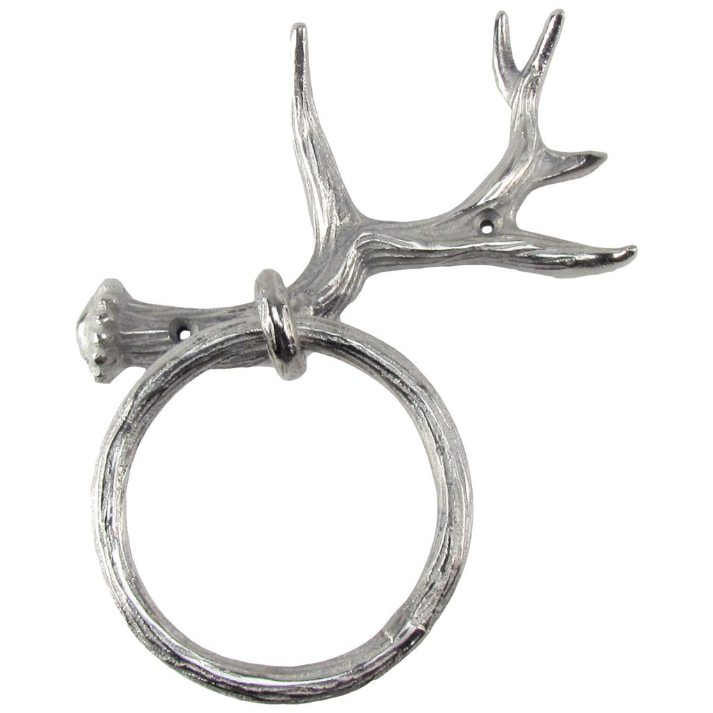 Rustic Deer or Elk Antler Wall Mount Bathroom Towel Hanger