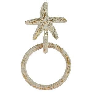 Wall Mount Starfish Kitchen and Bath Towel Ring Holder