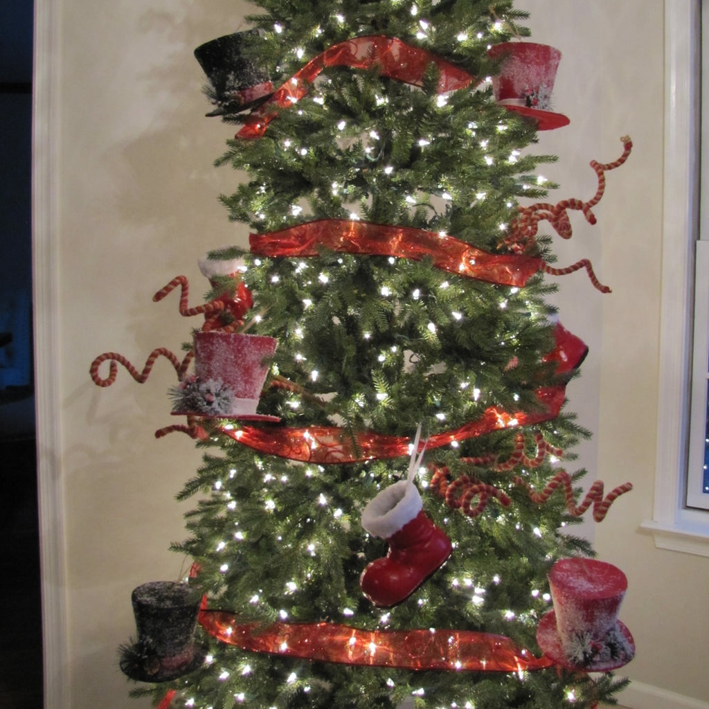 Candy Cane Christmas Ornament Pick Decoration Tree Topper Rustic