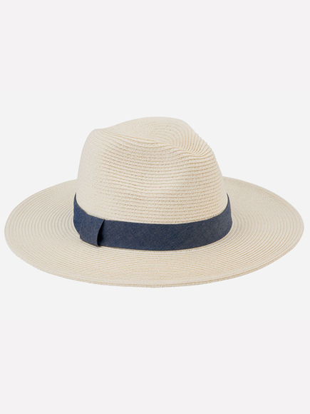 San Diego Women's Fedora W/Chambray Band