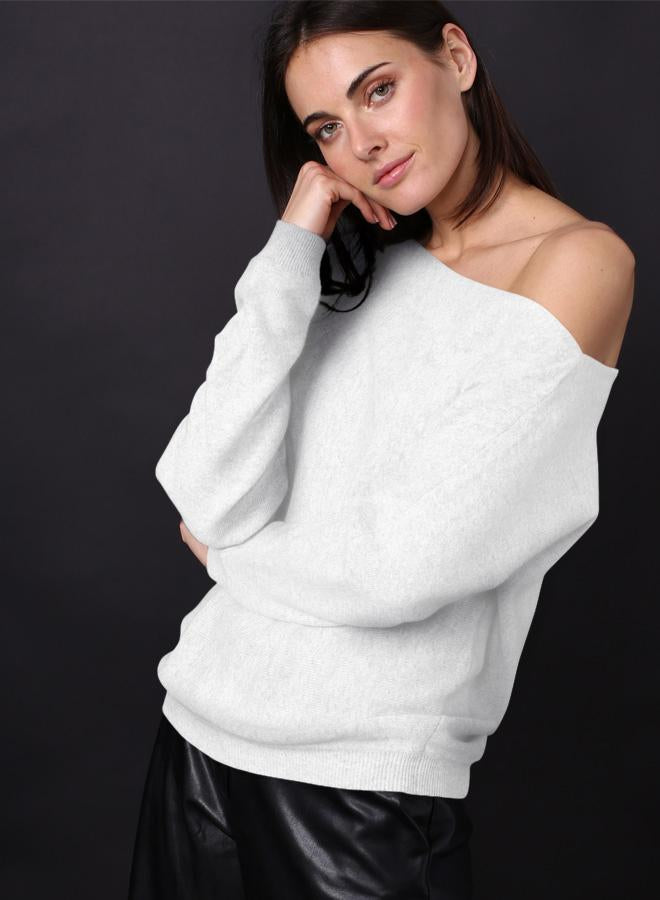 Minnie Rose Cashmere off the Shoulder Sweater