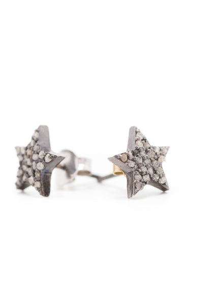 S.Row Designs Diamond Star Stud Earring