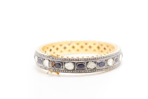 S. Row Designs Diamond and Sapphire Bracelet