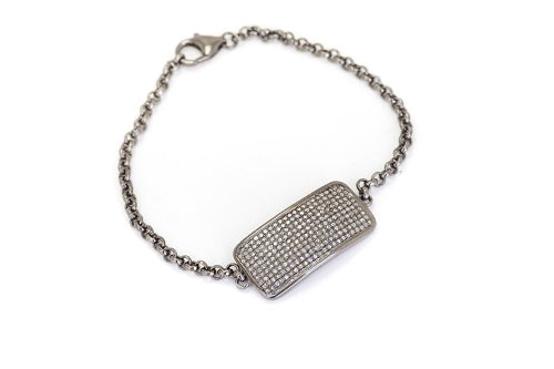 S.Row Designs Diamond ID Tag Bracelet