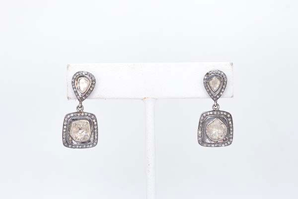 S. Row Designs Diamond Slice Drop Earring