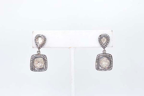Diamond Slice Drop Earring