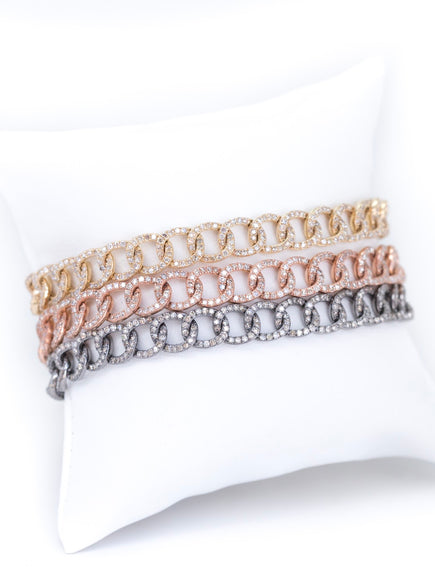 S. Row Designs Diamond Chain Link Bracelets