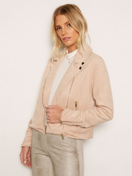 FFBS Faux Suede Moto Jacket