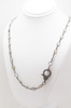 Moonstone Necklace with Pave Diamon Clasp
