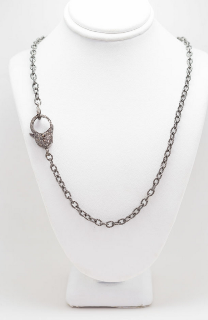 S. Row Designs Silver Chain with Diamond Clasp Necklace