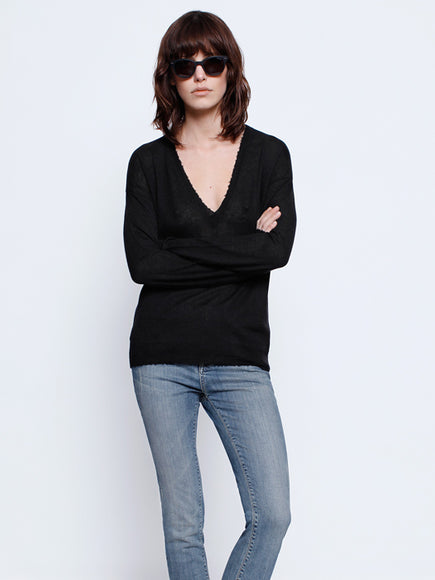 Zadig & Voltaire  Happy Vneck Sweater