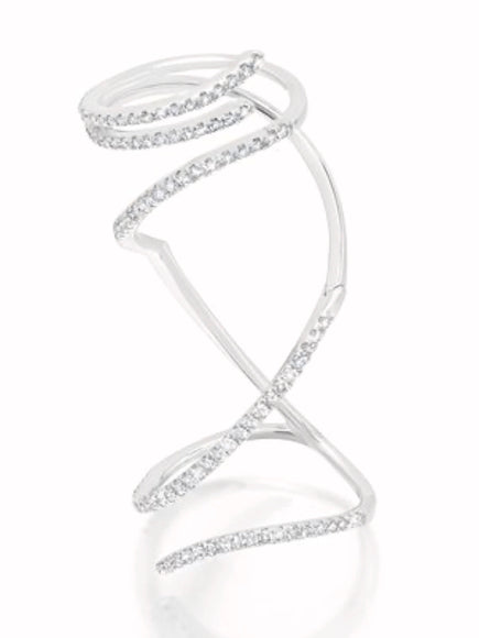Graziela Diamond Mega Swirl Ring