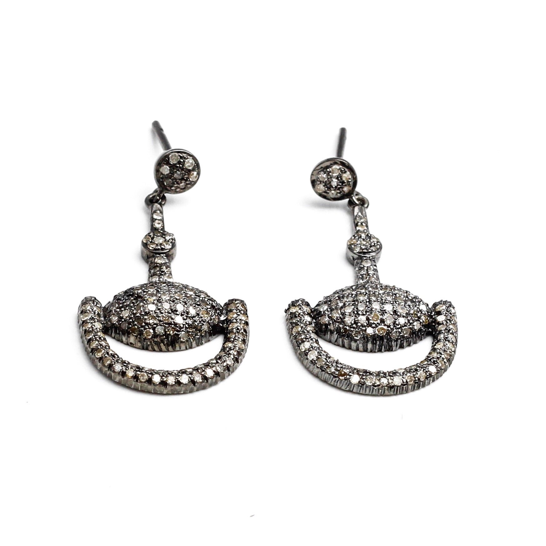 S. Row Designs Pave Diamond Bit Earrings