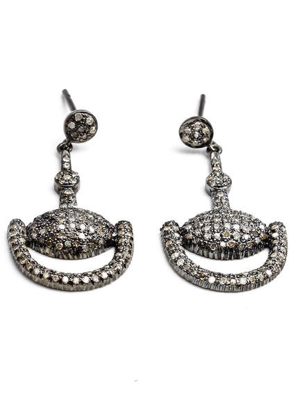 S.Row Designs Pave Diamond Bit Earrings
